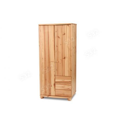 Claudia 2 ajtós 3 fiókos nagyszekrény, Kategória:Fenyő szekrény