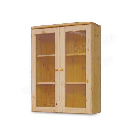 Claudia 2 ajtós üveges felsőelem, Kategória:Fenyő szekrény